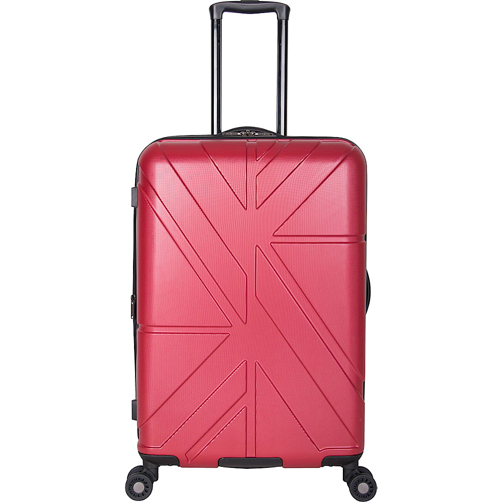Ben Sherman Luggage Oxford Collection 24 Upright Luggage Red Ben Sherman Luggage Softside Checked