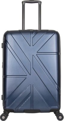 Ben Sherman Luggage Oxford Collection 24 inch Upright Luggage Navy - Ben Sherman Luggage Hardside Checked