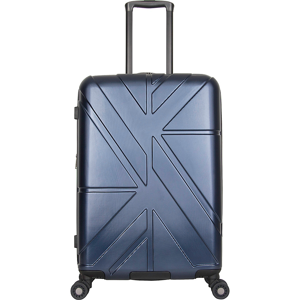 Ben Sherman Luggage Oxford Collection 24 Upright Luggage Navy Ben Sherman Luggage Softside Checked