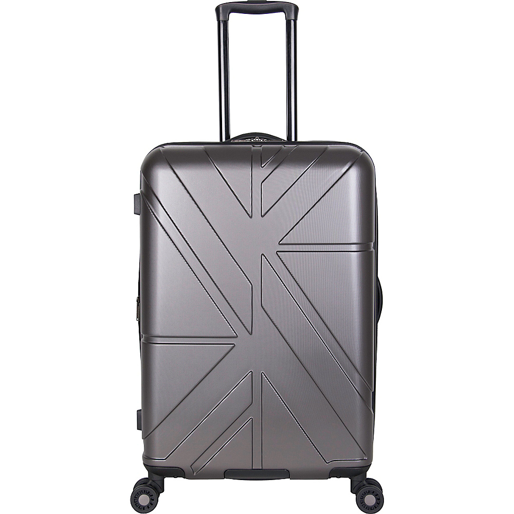 Ben Sherman Luggage Oxford Collection 24 Upright Luggage Charcoal Ben Sherman Luggage Softside Checked