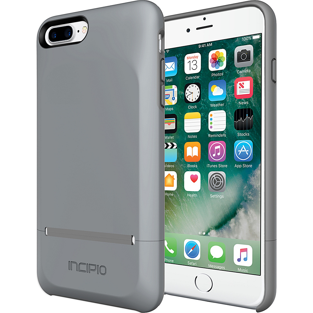 Incipio Stashback for iPhone 7 Plus Gray/Gray - Incipio Electronic Cases - Technology, Electronic Cases