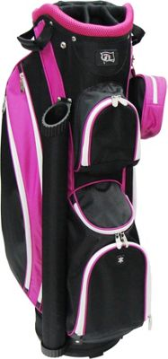 RJ Golf Ladies Cart Bag with Covers Black/Hot Pink - RJ Golf Golf Bags