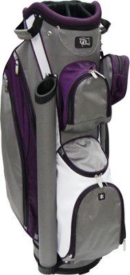 RJ Golf Ladies Cart Bag with Covers Grey/Purple - RJ Golf Golf Bags