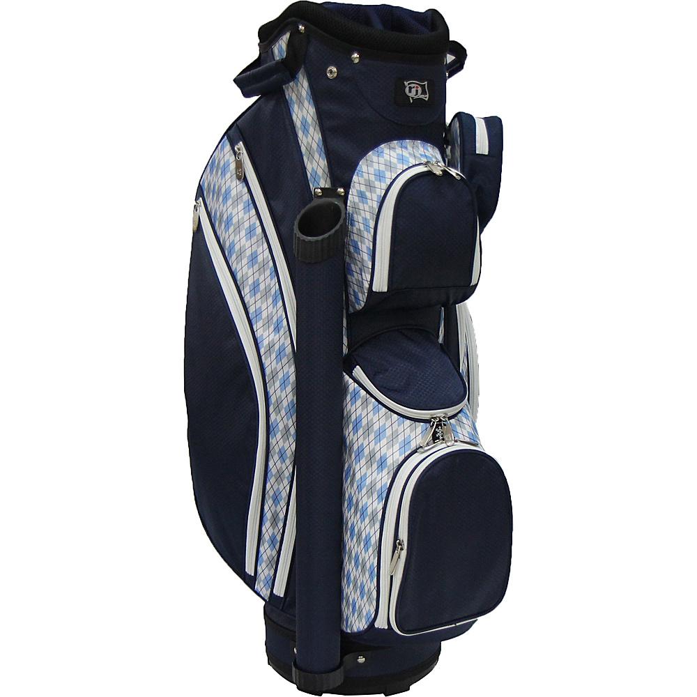 RJ Golf Ladies Cart Bag with Covers Argyle/Navy - RJ Golf Golf Bags