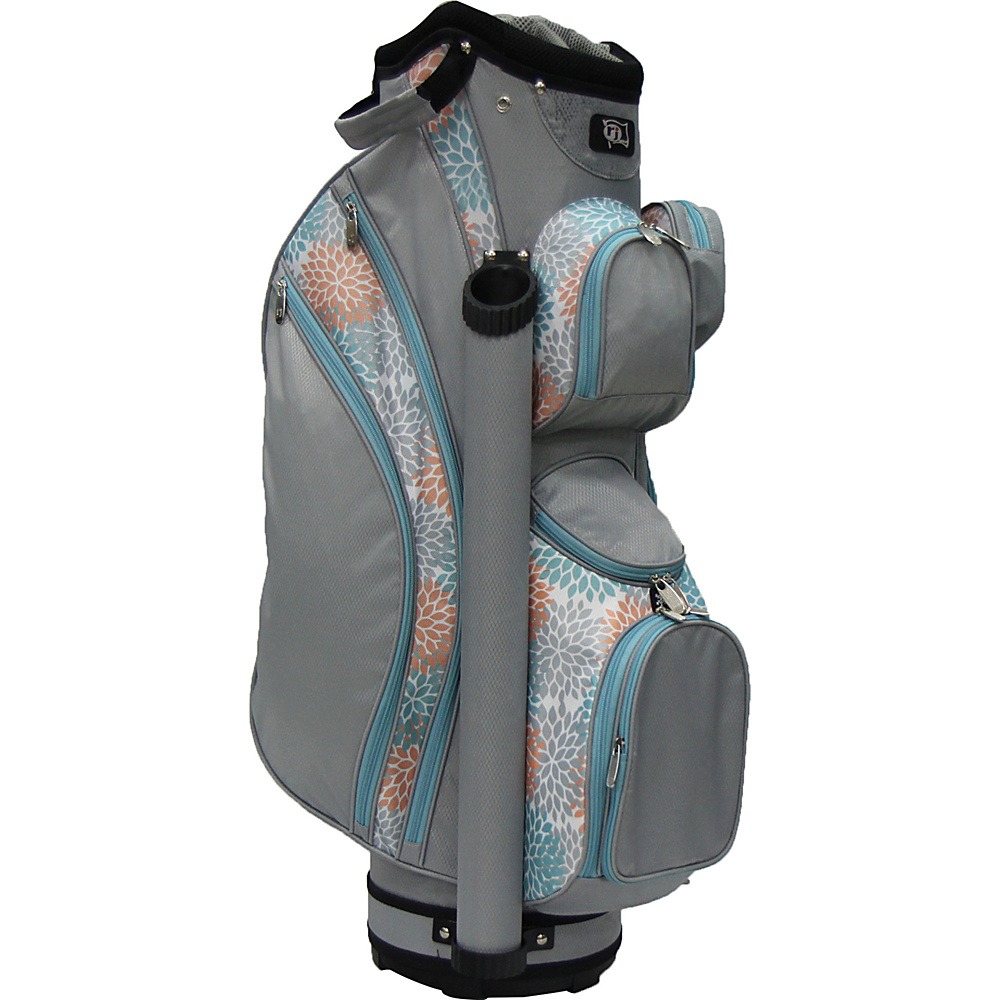RJ Golf Ladies Cart Bag with Covers Coral/Grey - RJ Golf Golf Bags