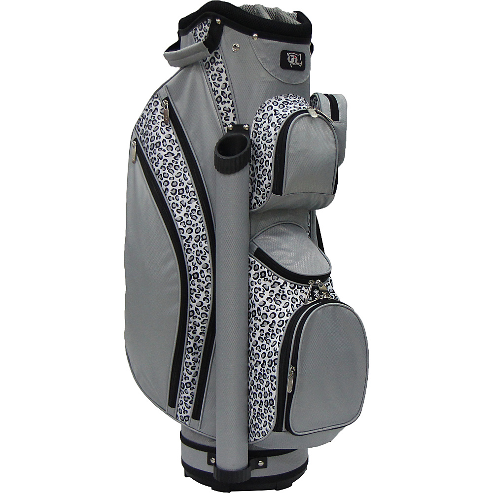 RJ Golf Ladies Cart Bag with Covers Leopard/Grey - RJ Golf Golf Bags