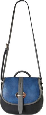 Diophy Three Tone Saddle Crossbody Handbag Black - Diophy Manmade Handbags