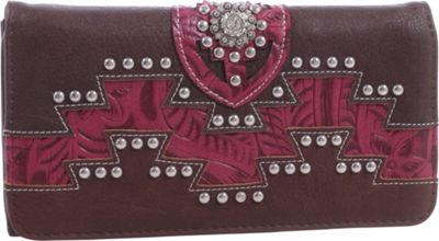 Epic Chic Kelly Western Style Wallet Coffee - Epic Chic Women's Wallets