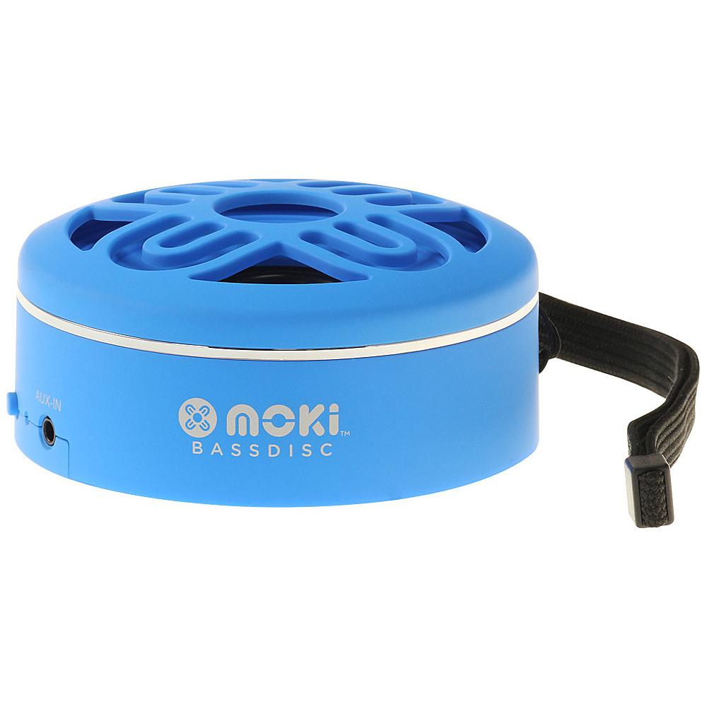 Moki BassDisc Wireless Speaker Blue Moki Headphones Speakers