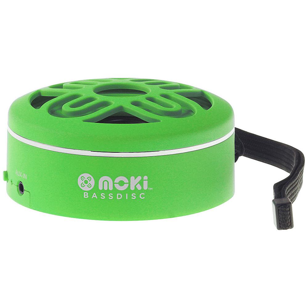 Moki BassDisc Wireless Speaker Green Moki Headphones Speakers