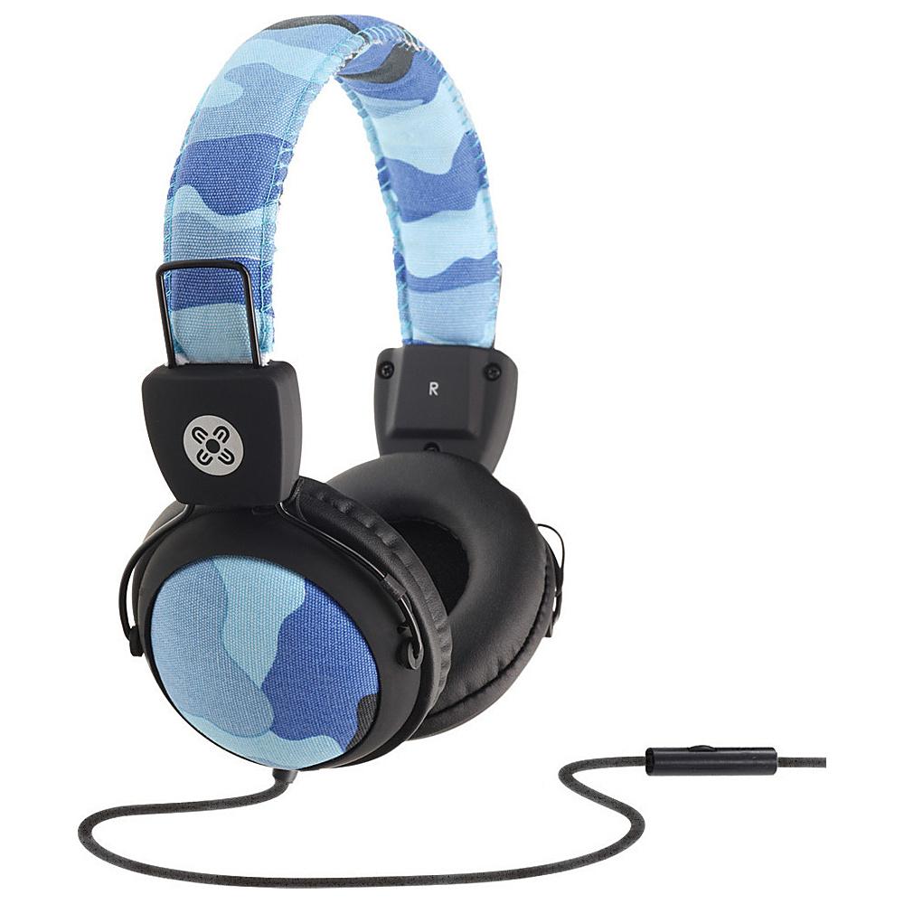 Moki Camo Headphones w In Line Mic Blue Moki Headphones Speakers