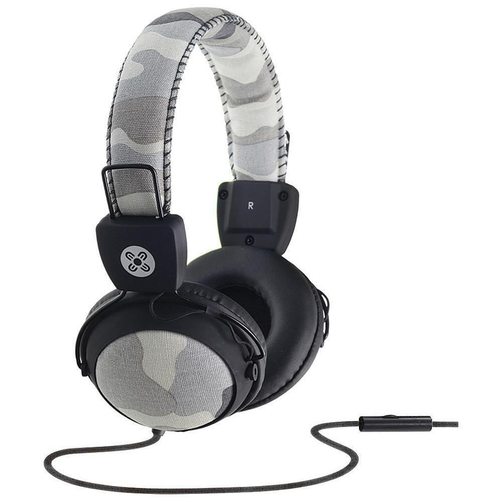 Moki Camo Headphones w In Line Mic Grey Moki Headphones Speakers