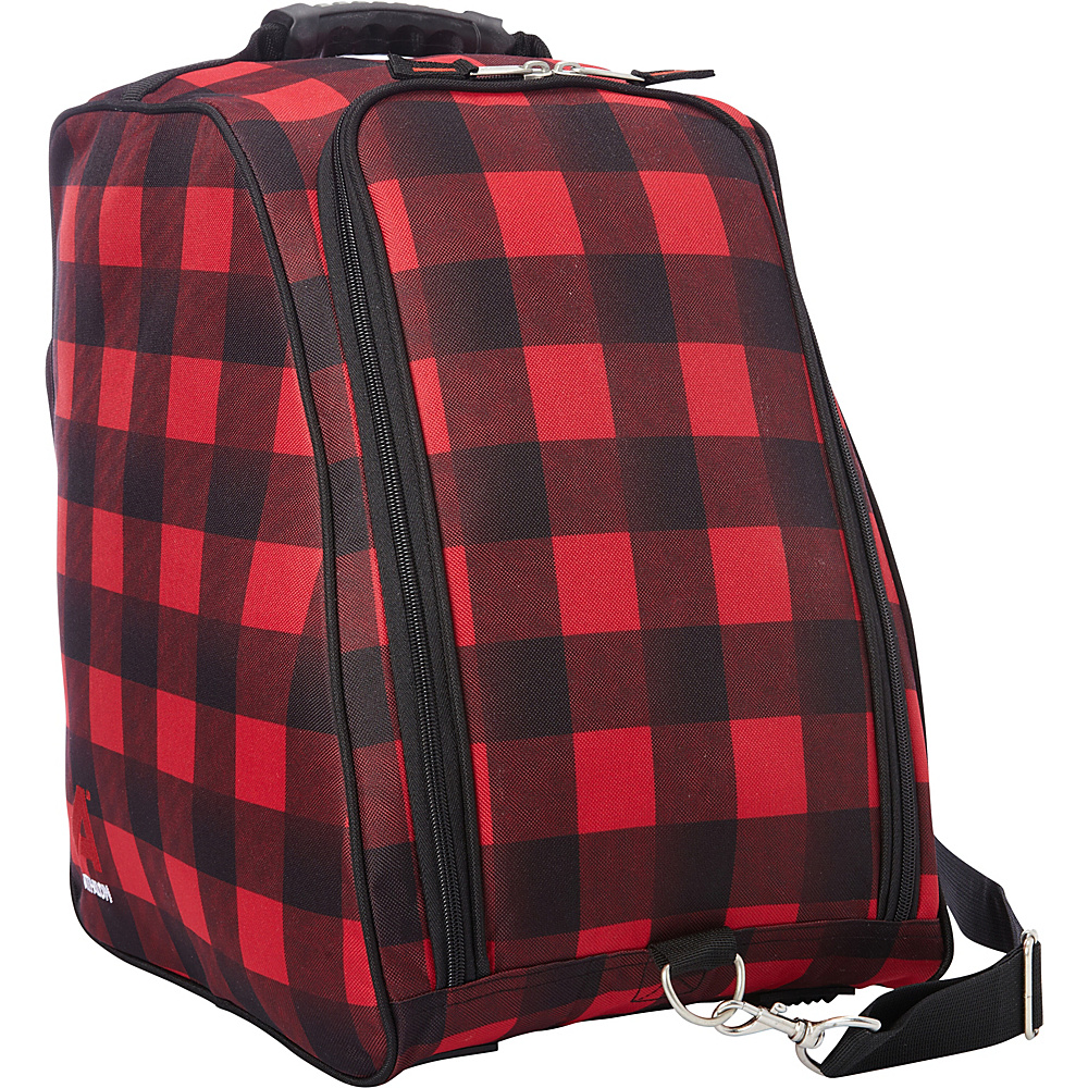 Athalon Light 'n Go Boot Bag Red - Athalon Ski and Snowboard Bags
