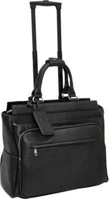Cabrelli Piper Pebble 15 inch Laptop Rollerbrief Black - Cabrelli Wheeled Business Cases