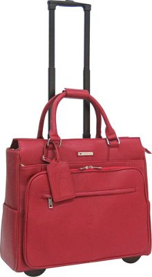 Cabrelli Piper Pebble 15 inch Laptop Rollerbrief Red - Cabrelli Wheeled Business Cases