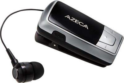 Azeca Azeca Retractable Bluetooth Headset Silver - Azeca Headphones & Speakers