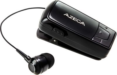 Azeca Retractable Bluetooth Headset Black - Azeca Headphones & Speakers