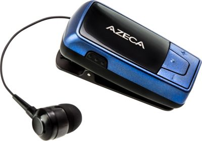 Azeca Azeca Retractable Bluetooth Headset Blue - Azeca Headphones & Speakers