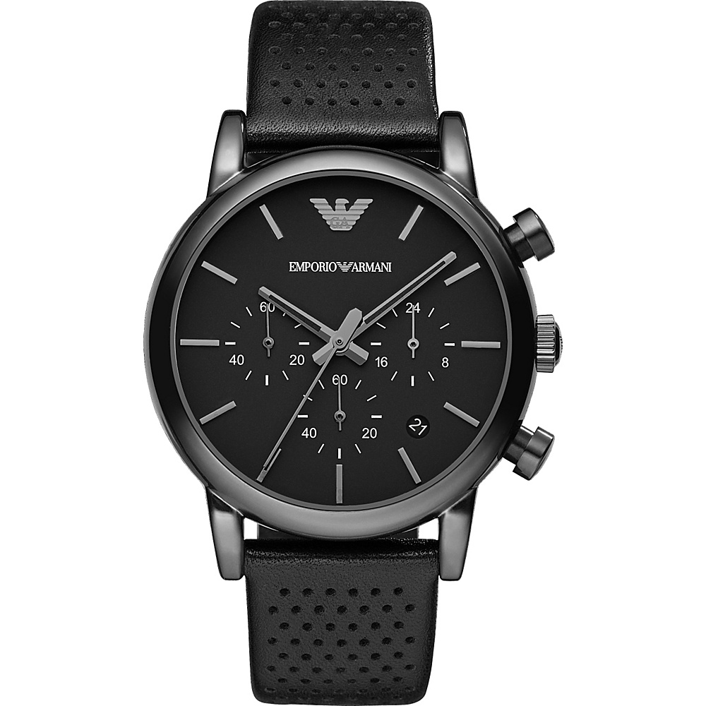 Emporio Armani Classic Chronograph Watch Black Black Emporio Armani Watches