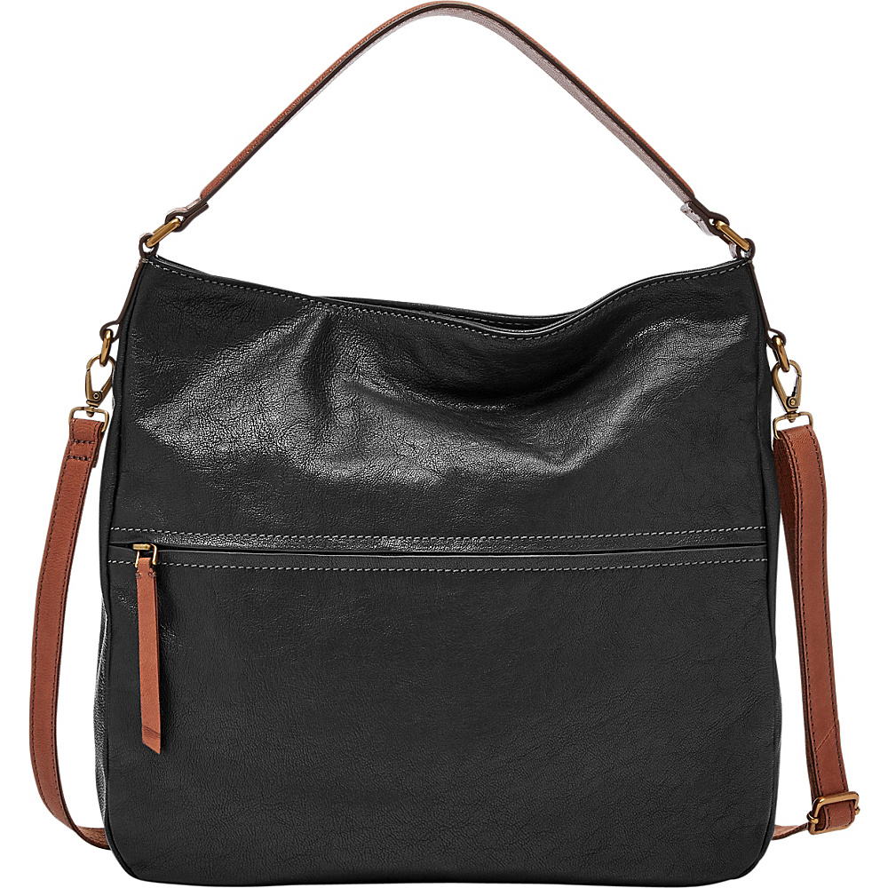 Fossil Corey Hobo Black - Fossil Leather Handbags - Handbags, Leather Handbags