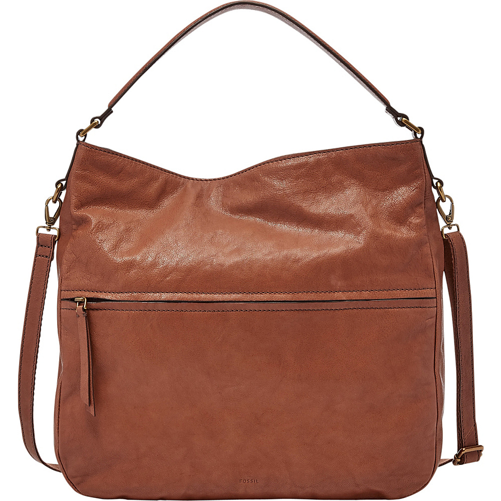 Fossil Corey Hobo Brown - Fossil Leather Handbags - Handbags, Leather Handbags