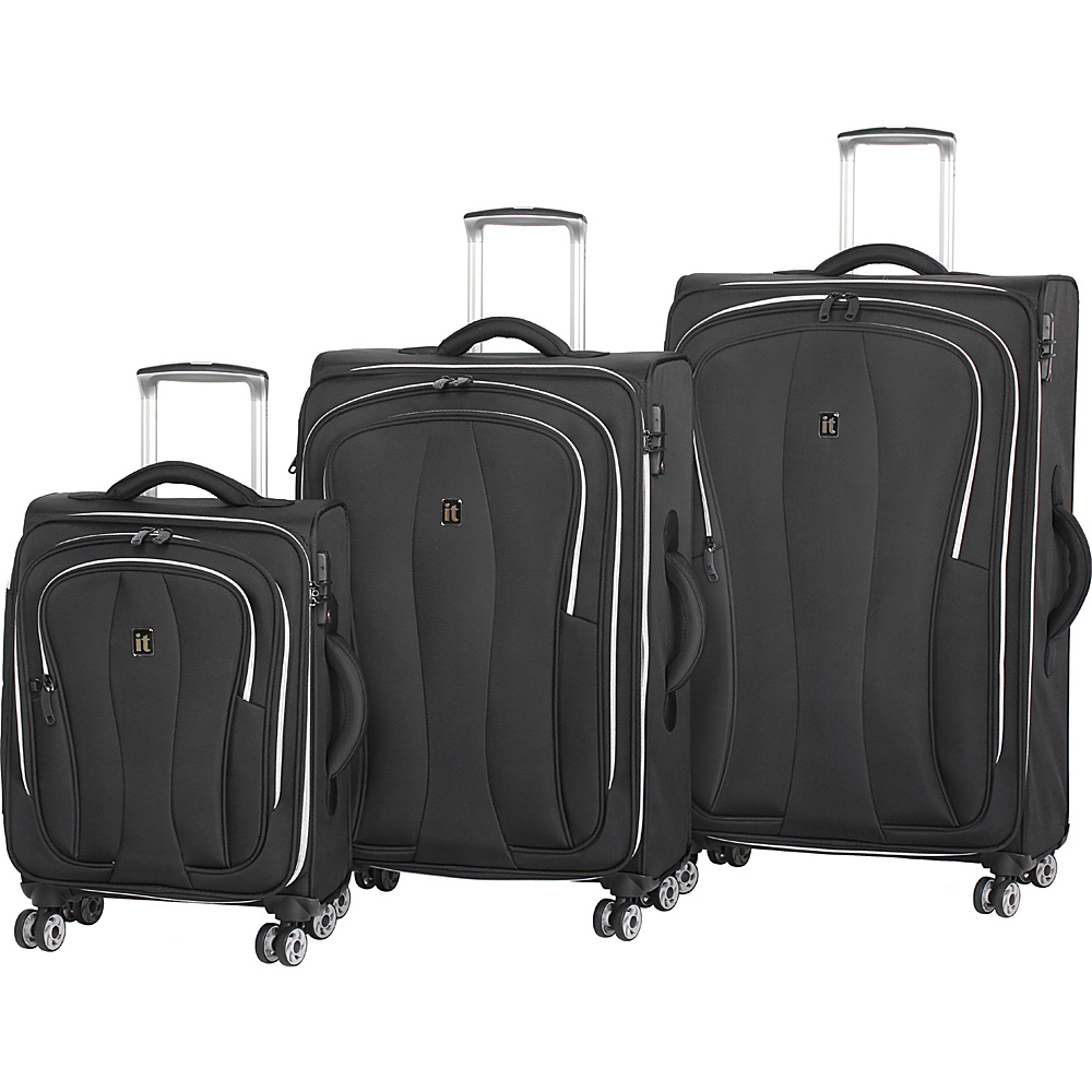 it luggage Daybreak 8 Wheel 3 Piece Luggage Set Black it luggage Luggage Sets