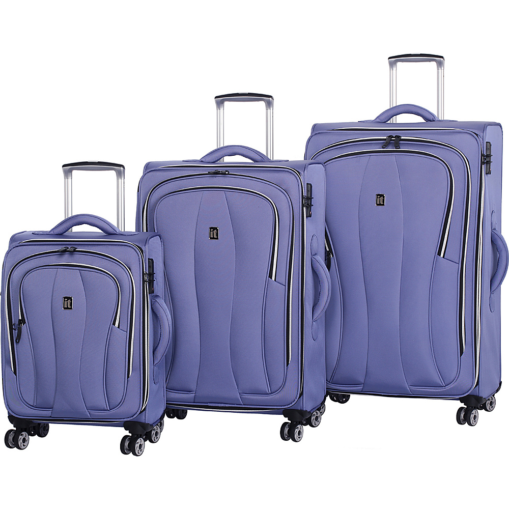 it luggage Daybreak 8 Wheel 3 Piece Luggage Set Bleached Denim it luggage Luggage Sets