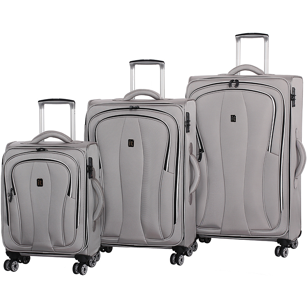 it luggage Daybreak 8 Wheel 3 Piece Luggage Set Flint Gray it luggage Luggage Sets