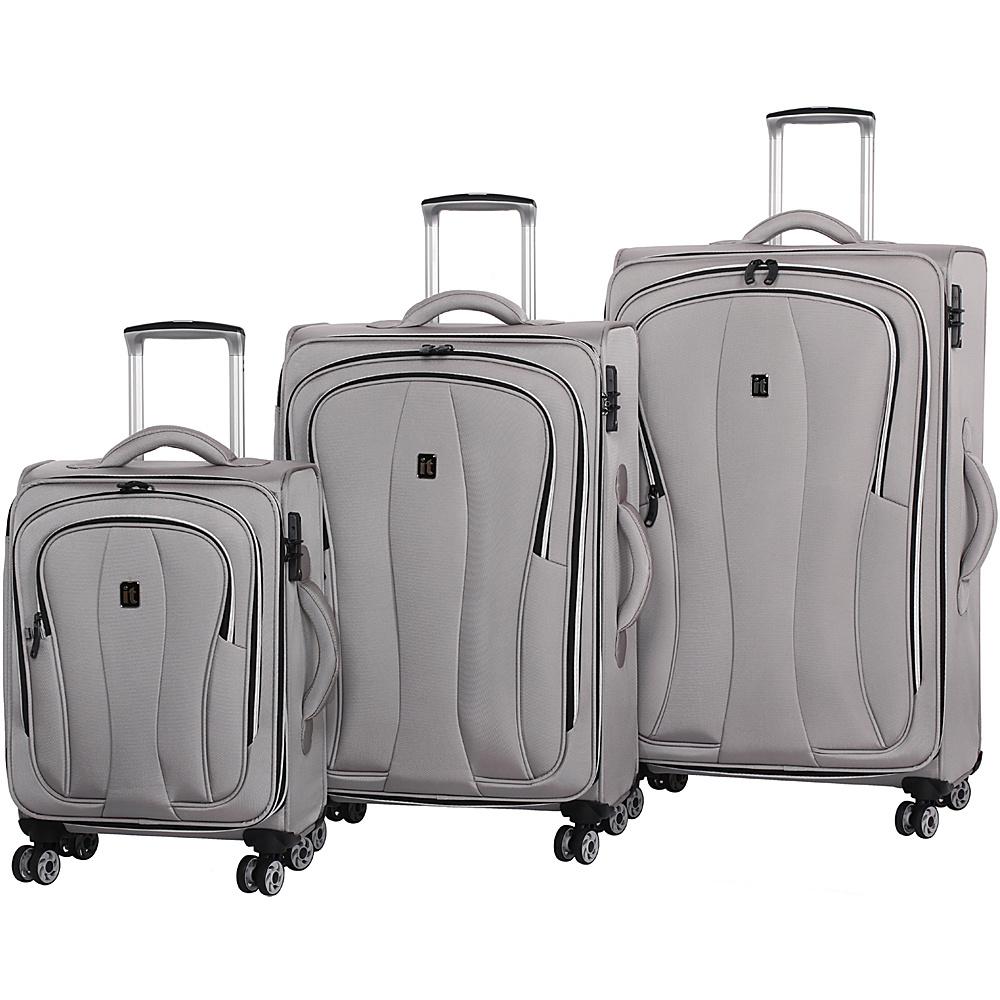 it luggage Daybreak 8 Wheel 3 Piece Luggage Set Flint Gray - it luggage Luggage Sets