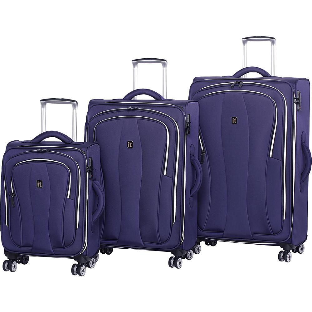 it luggage Daybreak 8 Wheel 3 Piece Luggage Set Evening Blue - it luggage Luggage Sets