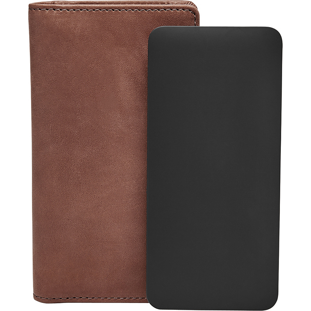 Fossil Charging Wallet Brown - Fossil Mens Wallets - Work Bags & Briefcases, Men's Wallets