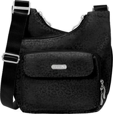 baggallini Criss Crossbody - Retired Colors Black Cheetah Emboss - baggallini Fabric Handbags