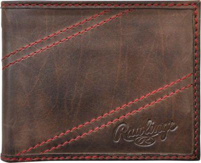 Rawlings Two Strikes Bifold Wallet Glove Brown - Rawlings Men's Wallets