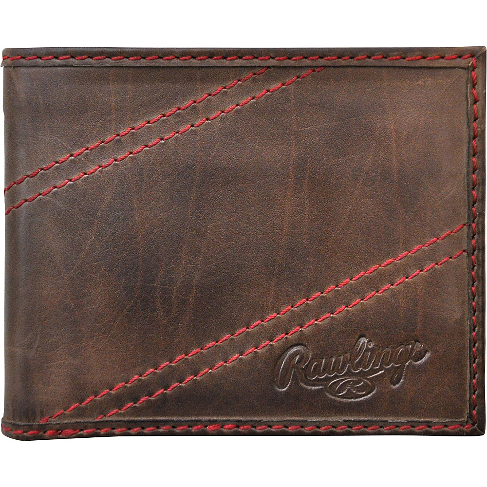 Rawlings Two Strikes Bifold Wallet Glove Brown Rawlings Men s Wallets
