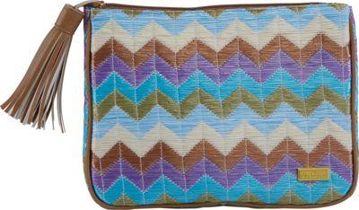 Stephanie Johnson Amalfi Cassandra Large Zip Top Cosmetic Bag Pink - Stephanie Johnson Toiletry Kits