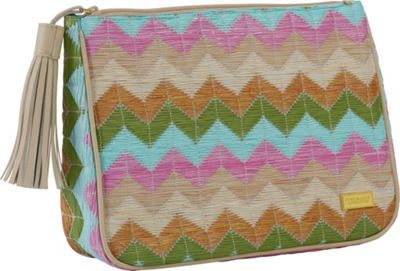 Stephanie Johnson Amalfi Cassandra Large Zip Top Cosmetic Bag Pink - Stephanie Johnson Toiletry Kits