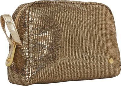 Stephanie Johnson Sunset Greta Medium Cosmetic Case Gold - Stephanie Johnson Travel Health & Beauty