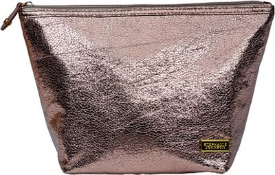 Stephanie Johnson Tinseltown Laura Large Trapezoid Cosmetic Bag Gunmetal - Stephanie Johnson Travel Health & Beauty