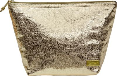 Stephanie Johnson Tinseltown Laura Large Trapezoid Cosmetic Bag Gold - Stephanie Johnson Travel Health & Beauty