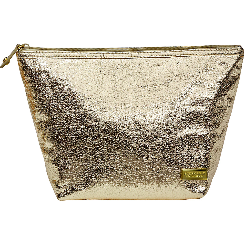 Stephanie Johnson Tinseltown Laura Large Trapezoid Cosmetic Bag Gold Stephanie Johnson Women s SLG Other
