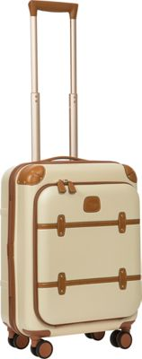 BRIC'S Bellagio 2.0 21 inch Carry-On Pocket Spinner Trunk Cream - BRIC'S Hardside Carry-On