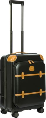 BRIC'S Bellagio 2.0 21 inch Carry-On Pocket Spinner Trunk Black - BRIC'S Hardside Carry-On