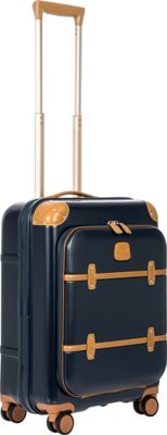 BRIC'S Bellagio 2.0 21 inch Carry-On Pocket Spinner Trunk Blue - BRIC'S Hardside Carry-On
