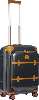BRIC'S Bellagio 2.0 21 inch Carry-On Pocket Spinner Trunk Shiny Dark Grey - BRIC'S Hardside Carry-On