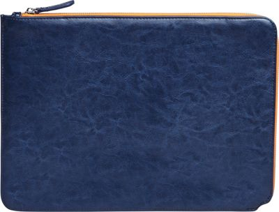 Setton Brothers 13 inch Faux Leather Sleeve Blue - Setton Brothers Electronic Cases