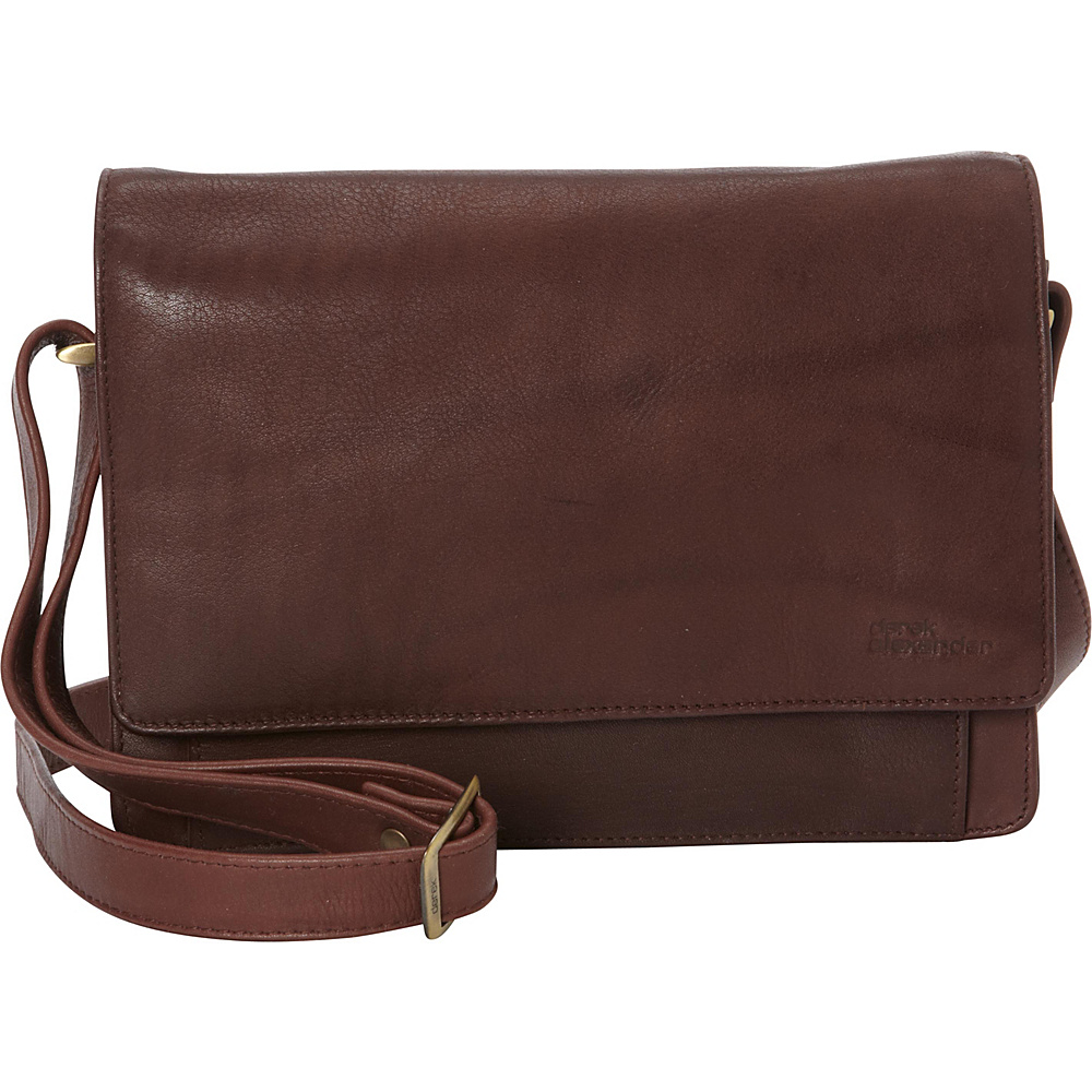 Derek Alexander EW Three Quarter Flap Convertible Crossbody Brown - Derek Alexander Leather Handbags - Handbags, Leather Handbags