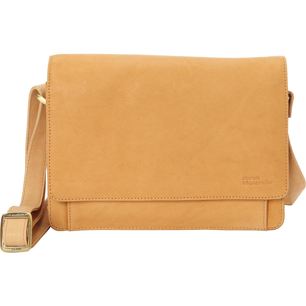 Derek Alexander EW Three Quarter Flap Convertible Crossbody Buff - Derek Alexander Leather Handbags - Handbags, Leather Handbags
