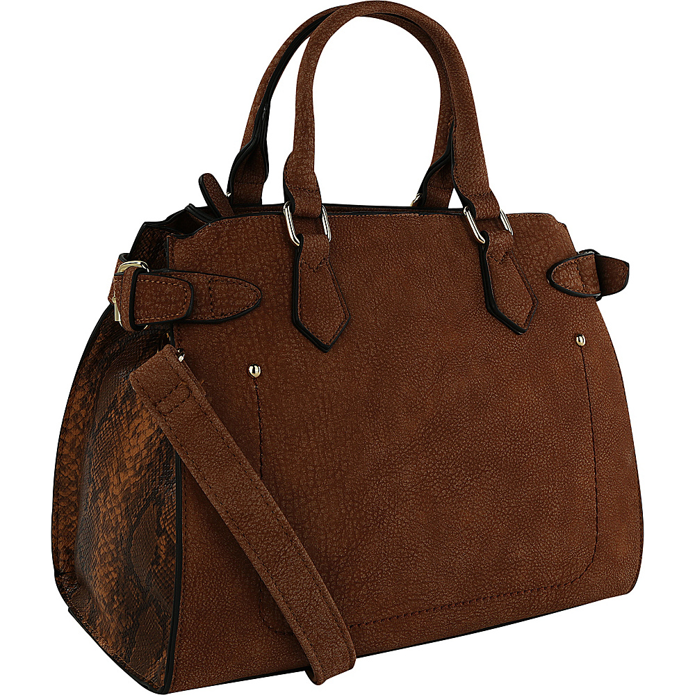 MKF Collection Julia Solid Color Satchel Brown - MKF Collection Gym Bags - Sports, Gym Bags