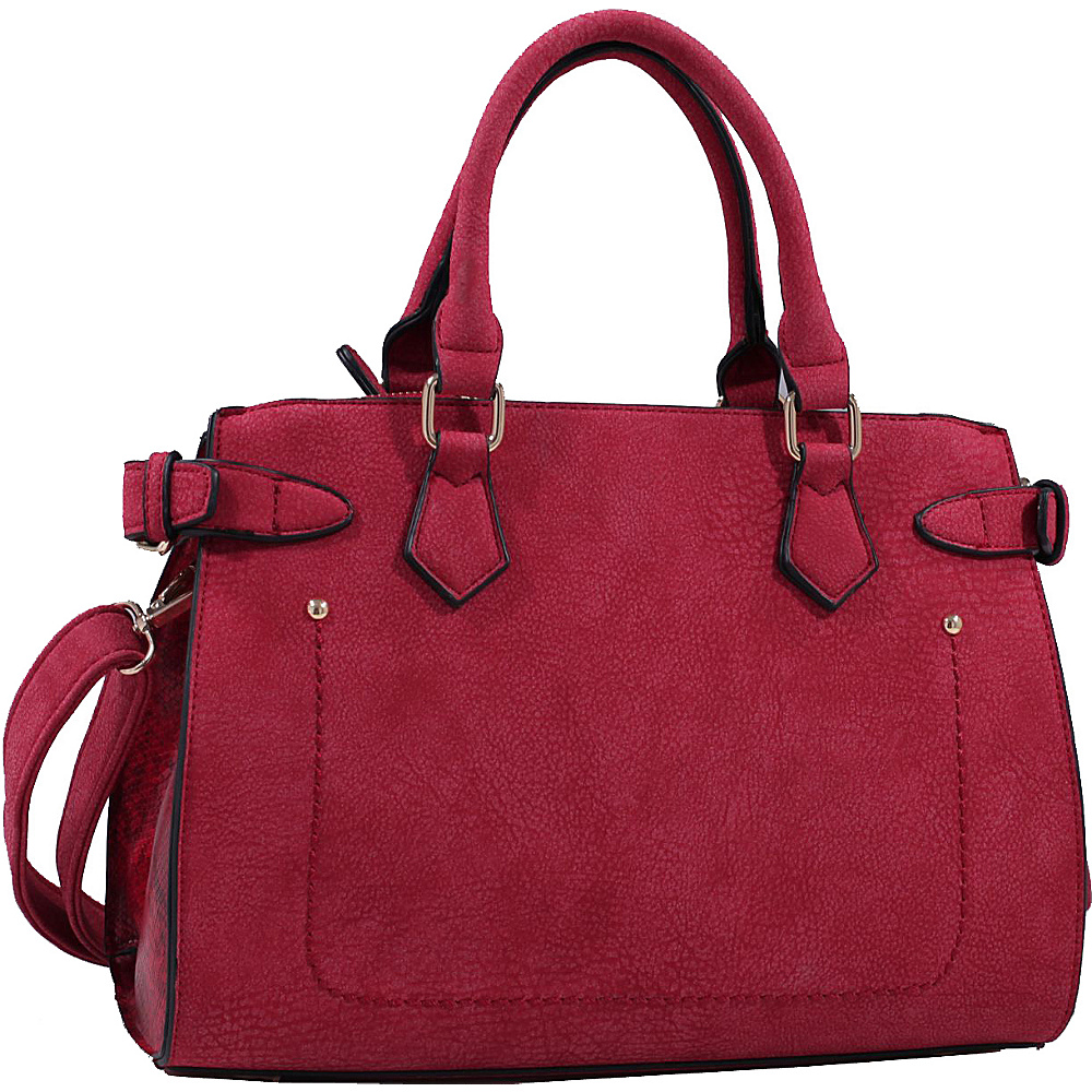 MKF Collection by Mia K. Farrow Julia Solid Color Satchel Red - MKF Collection by Mia K. Farrow Gym Bags - Sports, Gym Bags