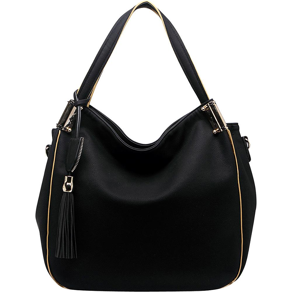MKF Collection by Mia K. Farrow Heather Hobo Bag Black - MKF Collection by Mia K. Farrow Manmade Handbags - Handbags, Manmade Handbags